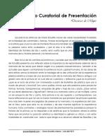 José Hugo Sánchez. Discurso de mujer. Texto curatorial