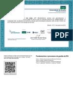 Fundamentos e Processos de Gestão de RH-Certificado 135400