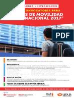 Afiche Beca Movilidad Internacional Santander