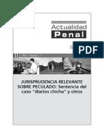 Jurisprudencia sobre Peculado (Caso Diarios Chicha)