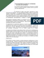 Participación en Actividades Culturales y Patrimonio Cultural de Guatemala