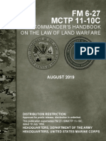 The Commander's Handbook on the Law of Land Warfare - Army Field Manual FM 6-27 - Marine Corps Tactical Publication - MCTP11-10C