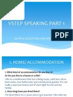 Sample Speaking Part 1 VSTEP