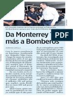 09-08-19 Da Monterrey 13% más a Bomberos