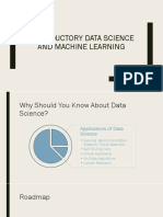 Introductory Data Science and ML