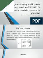 Matriz generadora y verificadora