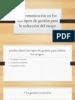La Comunicación en Los Tres Tipos de Gestión