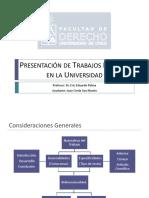 Presentaci n de Trabajos en La Universidad