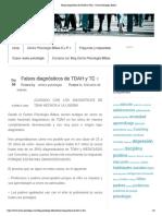 Falsos diagnósticos de TDAH y TDA – Centro Psicología Bilbao
