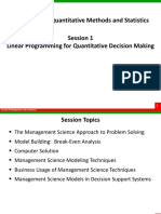 Session 1_Introduction and Graphical Method to Solve LPP
