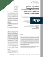Politica Monetaria Hondureña