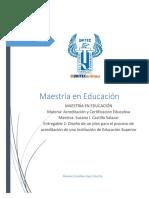 Diseño de un plan para el proceso de acreditación de una Institución de Educación Superior