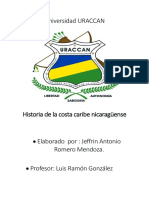 Tarea de Historia de La Costa Caribe Nicaragüense