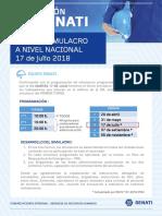 3er SIMULACRO 2018 a Nivel Nacional - 17 de Julio