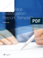 Workplace Investigation Report