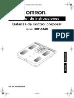 Manual de Instrucciones de Balanza Coroporal Hbf514