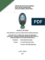 Producción y comercialización de coime (amaranto)