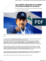 Cómo Daniel Ortega Convirtió a Nicaragua en Un Refugio de Corruptos y Terroristas Prófugos en Sus Países