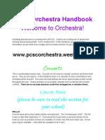 pcsc orchestra handbook