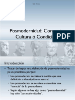 Posmodernidad Concepto o Condicion Clase1
