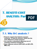 7. Benefit-cost Analysis (Part 1)