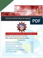 Linea de Investigacion de Un Ingeniero Civil