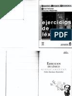 ejercicios de lexico