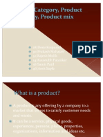 Group G Product Category Product Hierarchy Product Mix