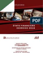 Etat Financier Chaine El Aurassi 2018