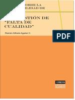 Ramón Alfredo Aguilar, Estudio Sobre La Proponibilidad de La Cuestion de Falta de Cualidad