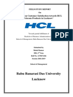 A Study on Customer Satisfaction Towards HCL Telecom Products in Lucknow