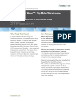 The Forrester Wave - Big Data Warehouse, Q2 2017