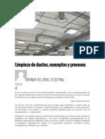Buenas Prácticascapacitación limpieza de ductos