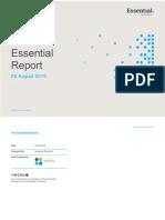 Essential Report, Australian survey, 8 August 2019