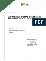 Manual Del Sistema de Gestion de Seguridad y Salud en El Trabajo