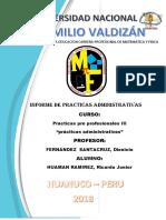 Informe de Practicas Humana Ramirez