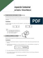 IV Bim 4to. Año Guía 3 Composición Centesimal