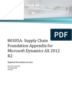 80305A- Supply Chain Foundation Appendix for Microsoft Dynamics AX 2012 R2