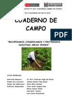 cuaderno  de  campo areas verdes