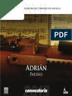 Concurso Municipal de Composición Musical Adrián Patiño 2019