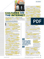 Cultures on the Internet