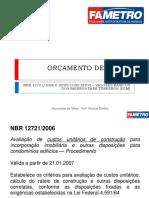 Aula 05 - Orçamento e a NBR 12721