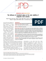 The influence of simulated aging on the color stability of composite resin cements..pdf