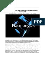 Huawei HarmonyOS (Hongmeng) press release