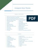 seasonal guide for insta stories