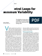 Tune Control Loops for Minimum Variability