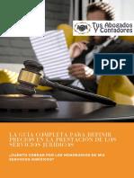 eBook La Guia Completa Para Definir Precios en La Prestacion Servicios Juridicos