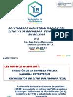 Industrialización de litio en Bolivia