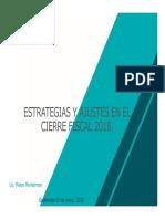 Estrategias y Ajustes Cierre Fiscal 2018