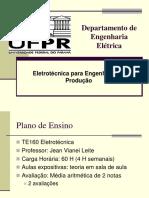 Eletrotécnica para engenharia de produção